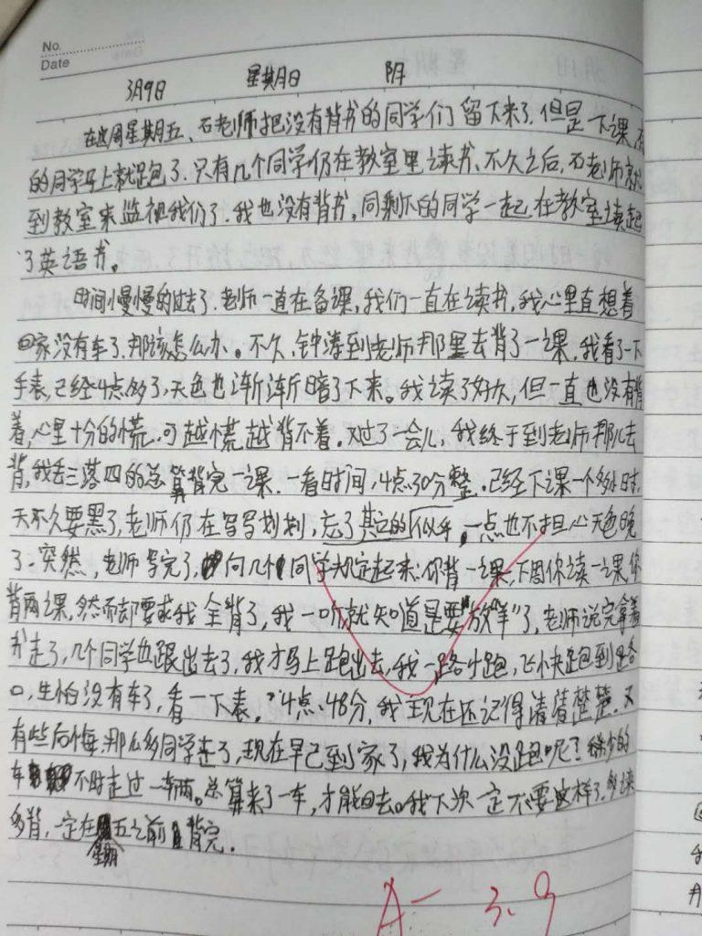 【中学日记】放学后的背书
